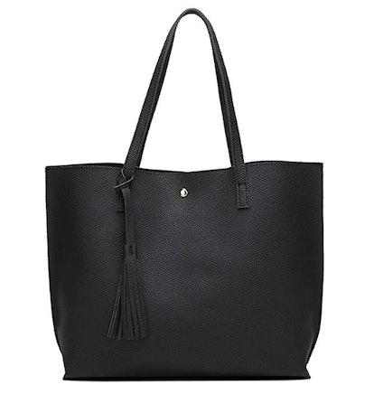 Dreubea Soft Leather Tote Shoulder Bag