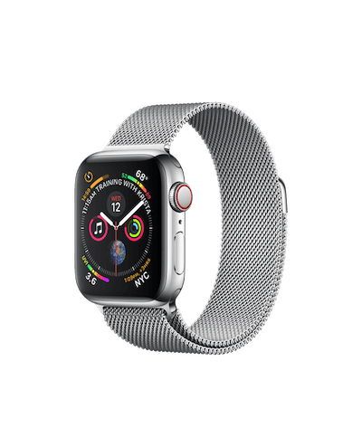Apple Watch Stainless Steel Case with Milanese Loop 40mm