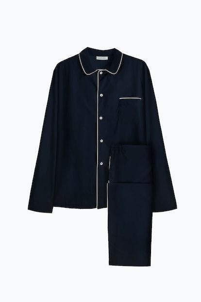 Oxford Blue Pajama Set with Pants