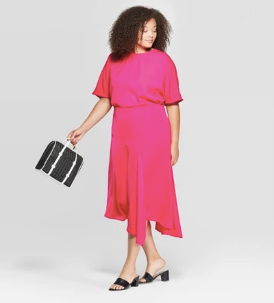 Who What Wear Pink Slip Skirt