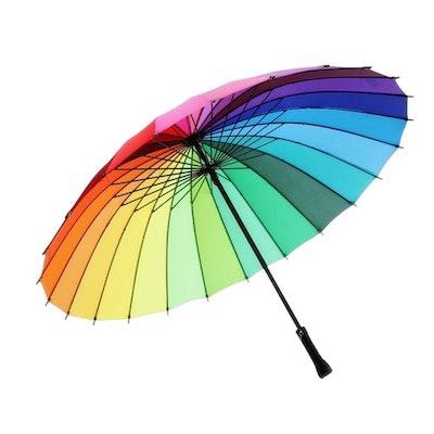 Large Rainbow Umbrella