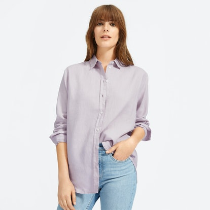 The Linen Relaxed Shirt in Lavender