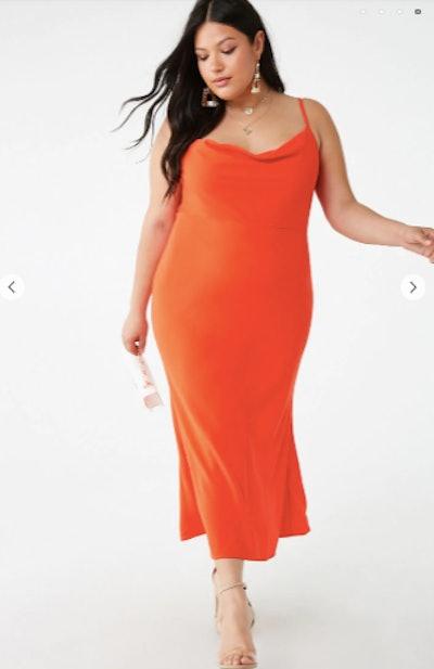 Plus Size Cowl Neck Dress