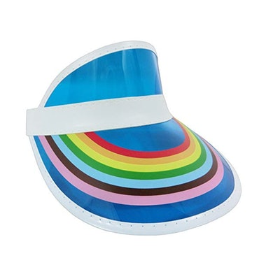 Retro Rainbow Color Sun Visor