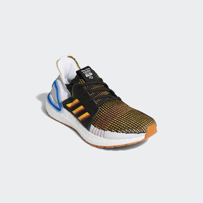 Ultraboost 19 Shoes in Core Black/Active Gold/Scalet