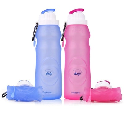 Collapsible Silicone Water Bottle (Set Of 2)