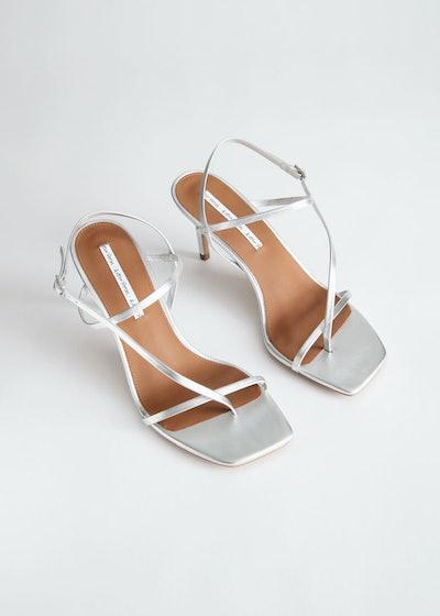 Cross Strap Stiletto Sandals