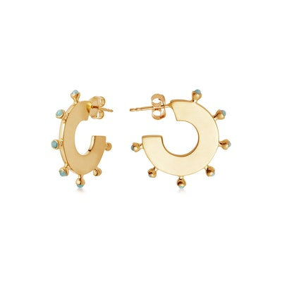 Amazonite Gold Camila Hoops