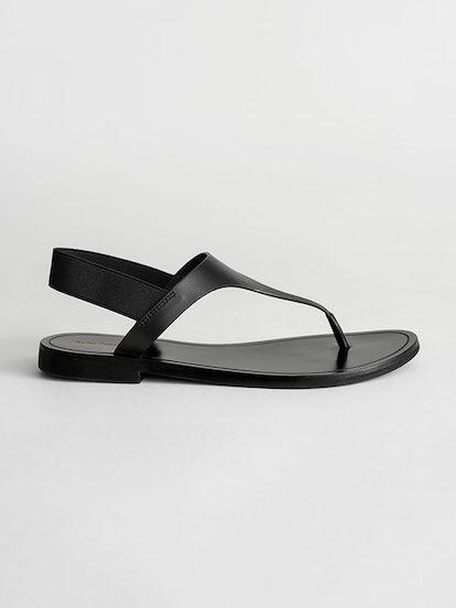 Leather T-Bar Strap Sandals