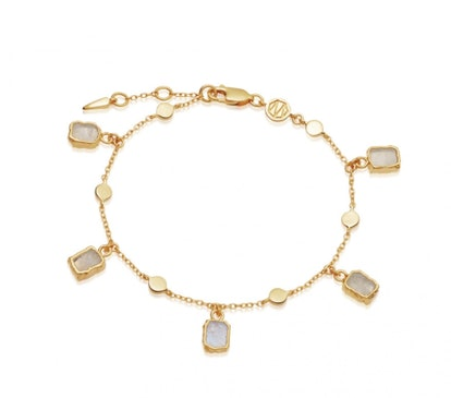 Rainbow Moonstone Lena Charm Bracelet