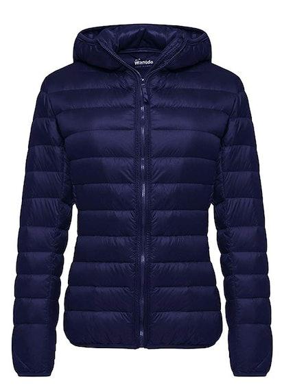 Wantdo Women's Hooded Packable Ultra Lightweight Short Down Jacket