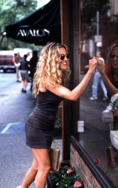 Carrie Bradshaw outfit: bodycon dress
