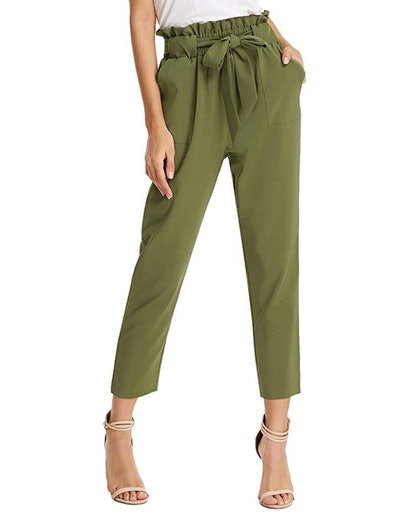 Grace Kearin Women's Paper Bag Waist Pants