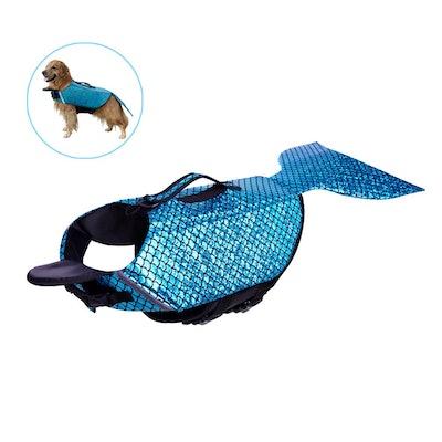 Albabara Mermaid Dog Life Preserver
