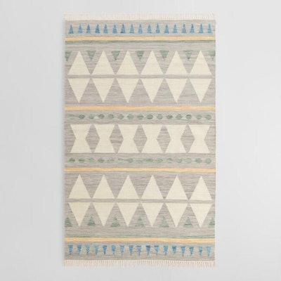 Blue Diamond Wool Kilim Lekan Area Rug 8'X10'