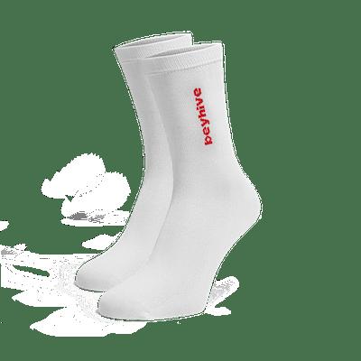 Beyhive Red Logo Socks