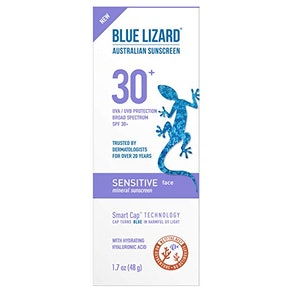 Blue Lizard Australian Sunscreen Sensitive Face Sheer Lotion SPF 30+