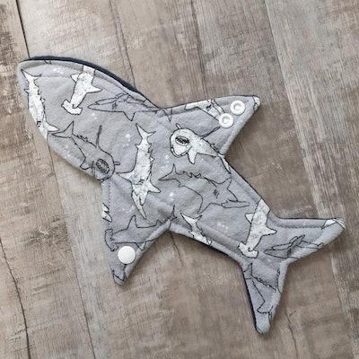 "9"" Shark Cloth Menstrual Pad: Moderate Absorbency"