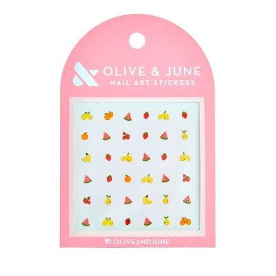 Olive & June Fruit Salad Nail Art Stickers - 36ct