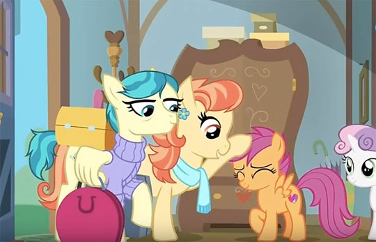 My Little Pony Will Debut A Same Sex Couple Soon Marking A Big Win For Lgbtq Representation Scootaloo's parents from the episode the last crusade of my little pony: my little pony will debut a same sex