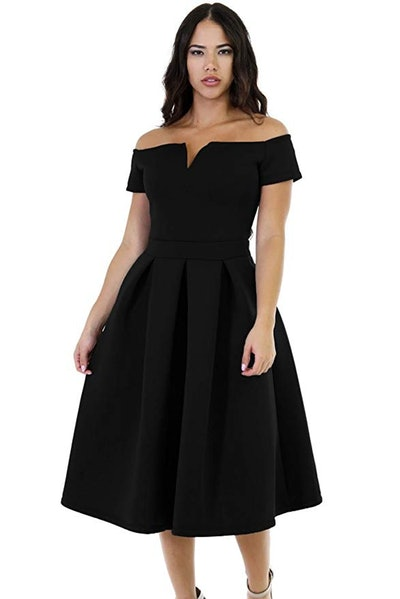 Lalagen Women's Vintage 1950s Cocktail Midi Dress