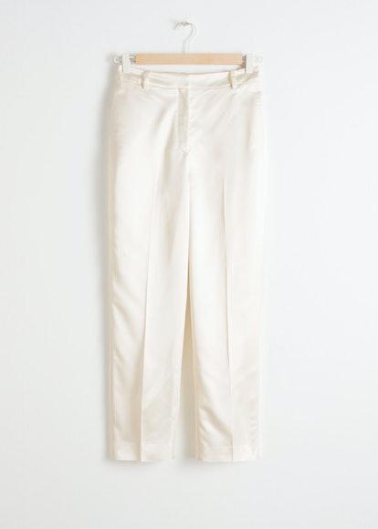 Slim Fit Satin Pants