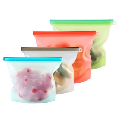 Reusable Silicone Food Bags (4-Pack)