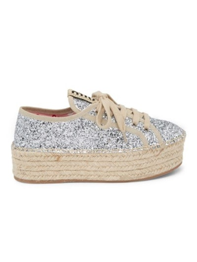 Glitter Platform Sneakers