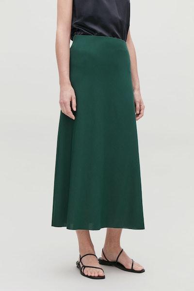 Long A-Line Jersey Skirt