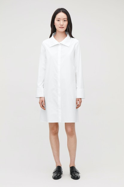 Cotton Dress With Collar