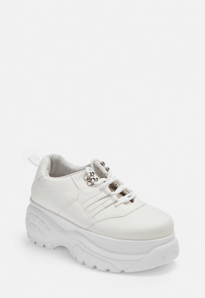 white super chunky sneakers