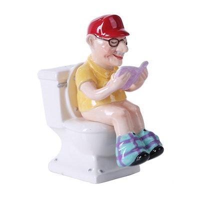 Grandpa on Toilet Salt and Pepper Shaker Set