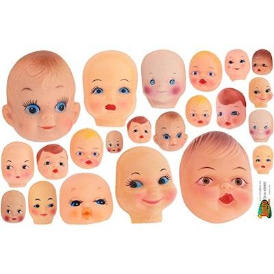 Creepy Doll Heads Vinyl Stickers