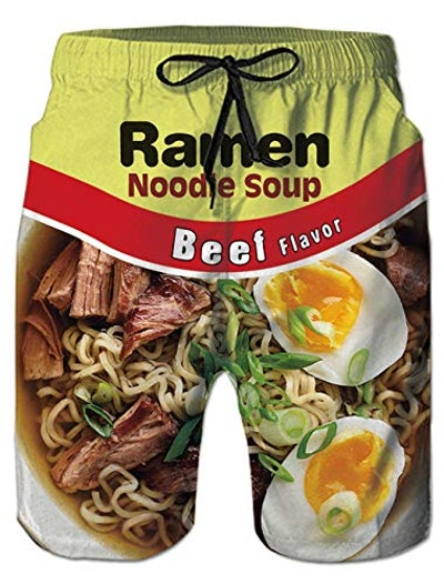 Ramen Noodle Swim Trunks