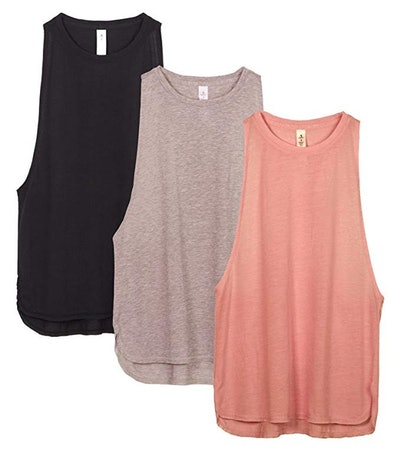 Icyzone Workout Tank Tops for Women (3 Pack)