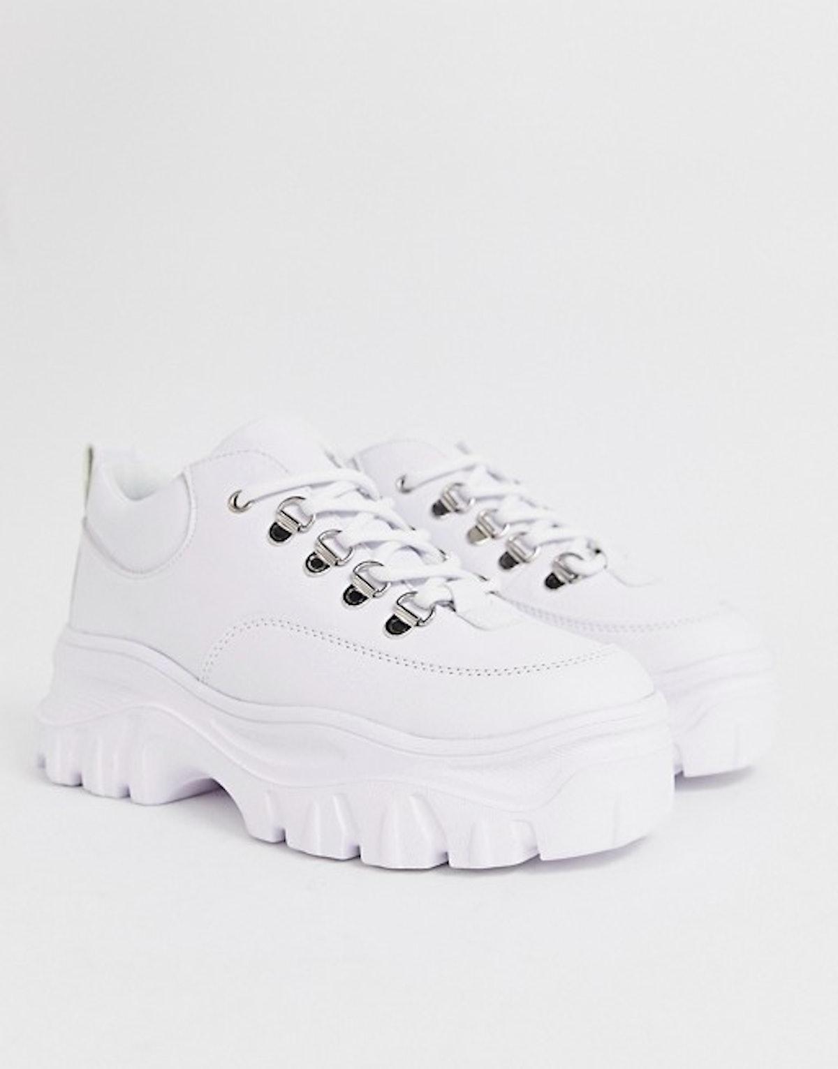 Public Desire Biggie white chunky sneakers