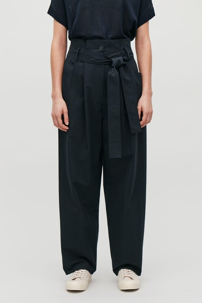 Pocket-Detailed Paperbag Trousers