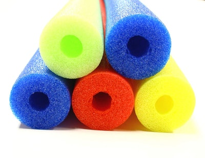 Colorful Foam Pool Swim Noodle 5-Pack in Lime, Red, Yellow & Blue