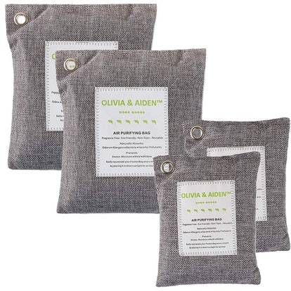 Olivia & Aiden Activated Charcoal Air Freshener (4-Pack)