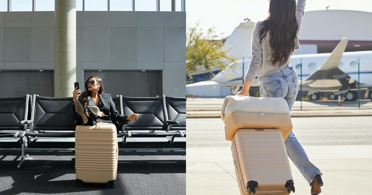 Shay Mitchell's BEIS Rolling Luggage Is Almost Too Chic To Check In