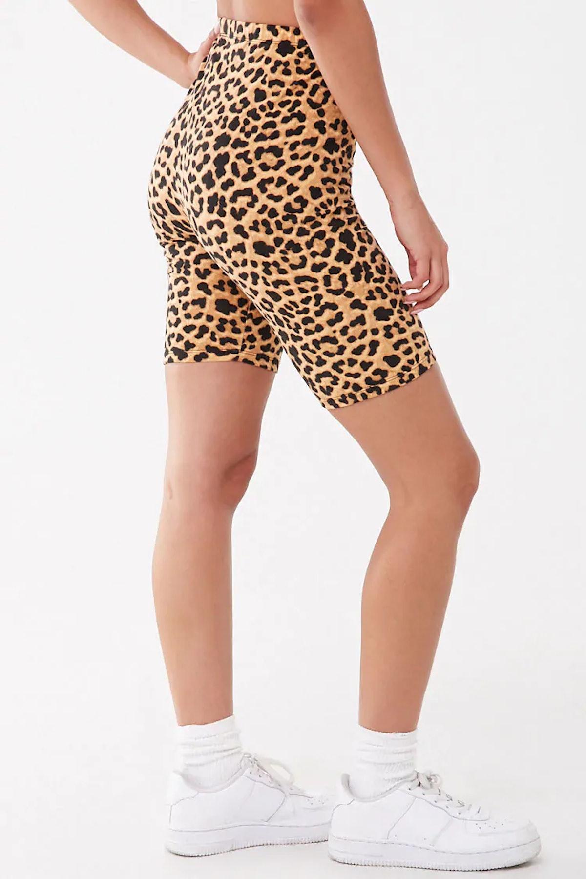 Baby Phat Leopard Print Biker Shorts