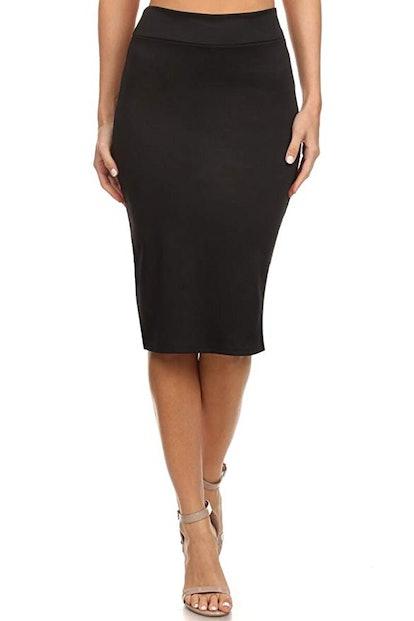 Simlu Women's Below The Knee Pencil Skirt