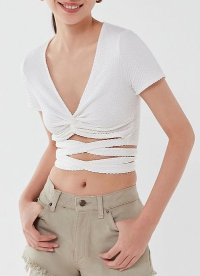 Tasha Twist-Front Wrap Top