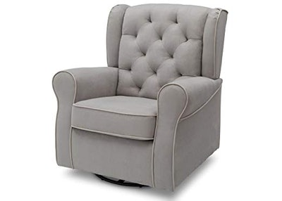 Delta Children Emerson Upholstered Glider Swivel Rocker Chair