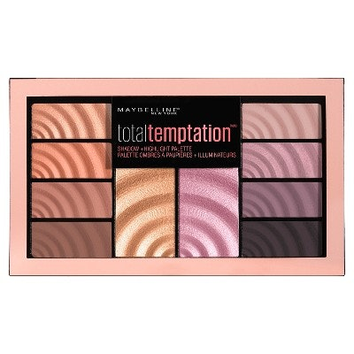 Maybelline Total Temptation Eyeshadow + Highlight Palette - 0.42oz