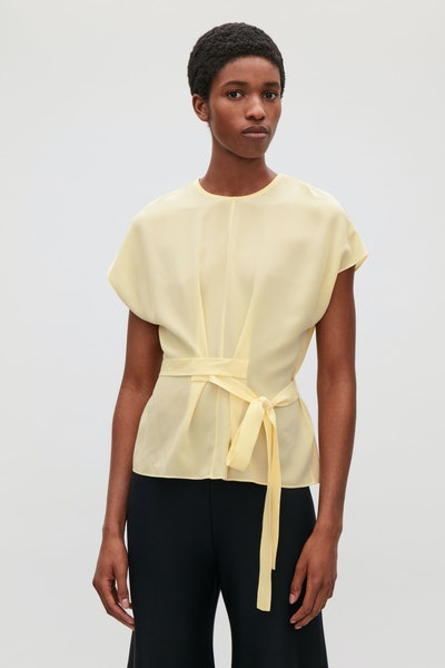 Silk Top With Wrap-Tie