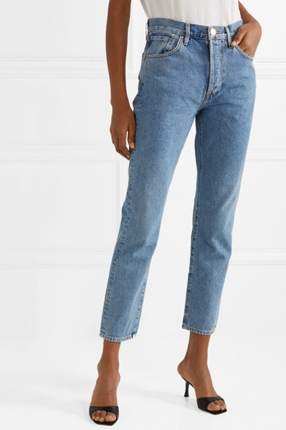 The Benefit High-Rise Straight-Leg Jeans