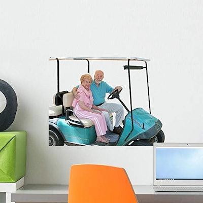 Golf Cart Seniors Wall Decal