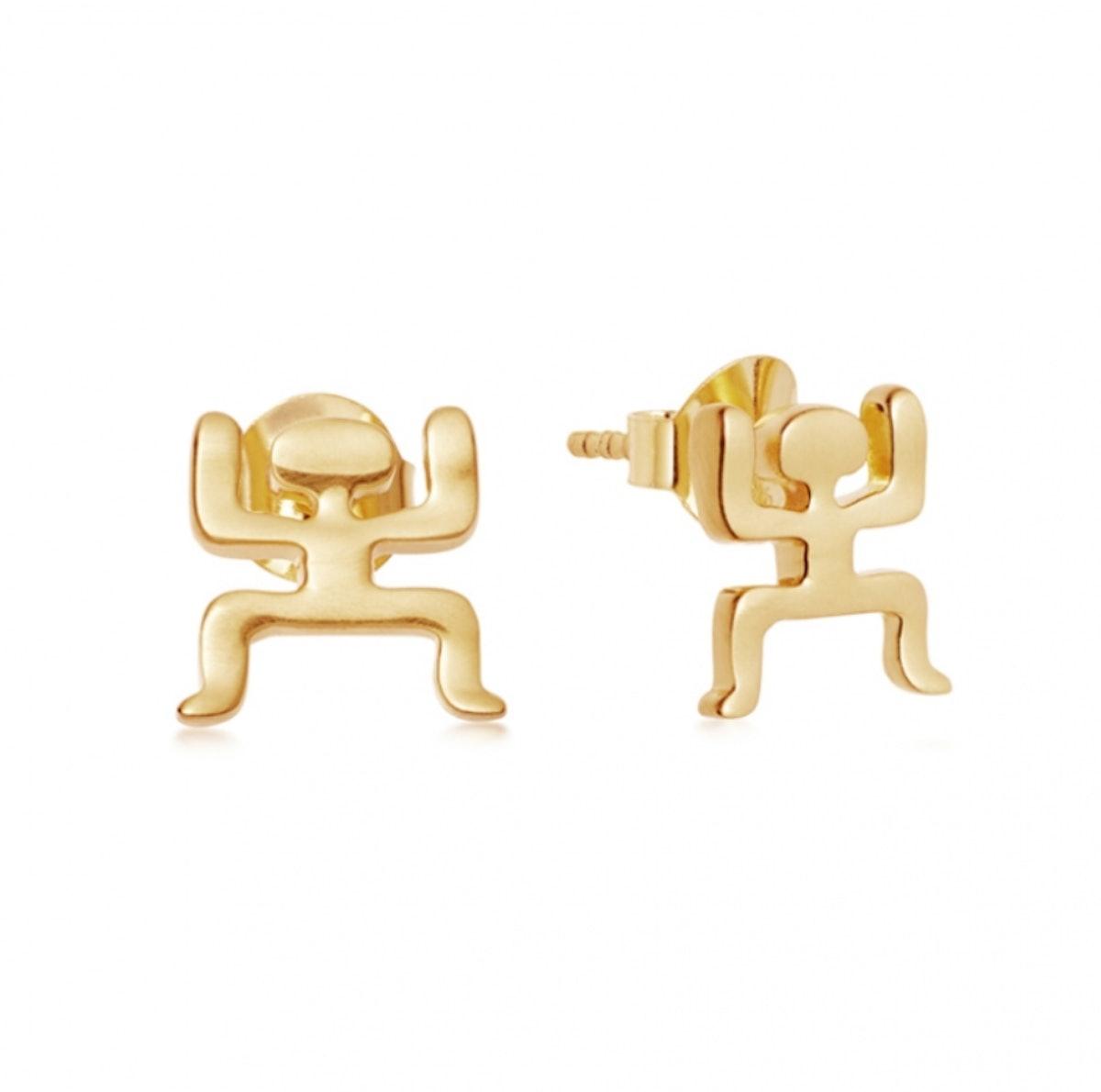 Gold Aurelio Studs