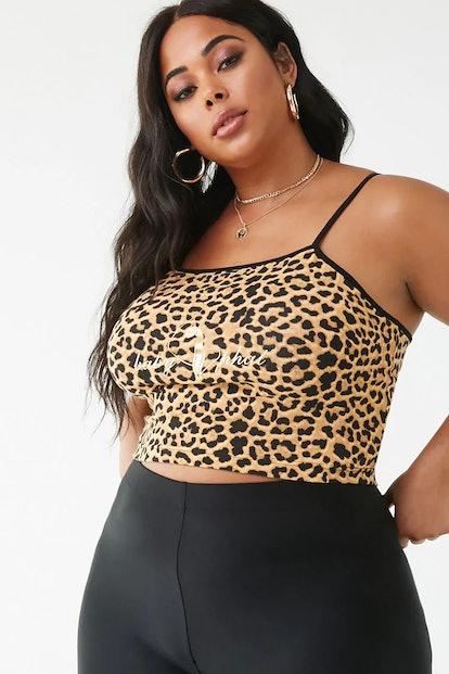 Plus Size Baby Phat Leopard Print Cami